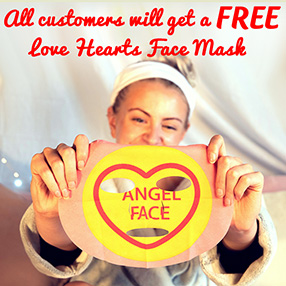 Free Love Hearts Face Mask