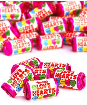 3kg (250 rolls) Party Pack of Love Heart mini rolls