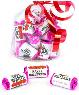 30 personalised Halloween Love Hearts