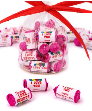 30 personalised Love Hearts
