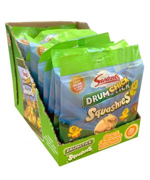 10 x Drumchick Squashies Orange and Pineapple flavour 160g