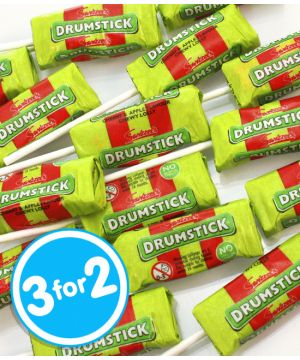 2kg Drumstick Lollies Cherry and Apple