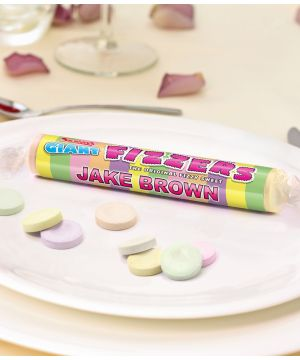Personalised Giant Fizzers Place Name Settings