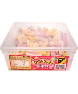 120 Count Fun Gum Tub - Giant Mushrooms