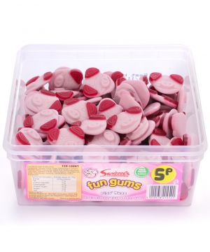 120 Count Fun Gum Tub - Pigs Mugs