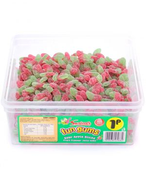 600 Count Fun Gum Tub - Apple Slices