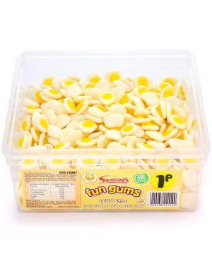 600 Count Fun Gum Tub - Fried Eggs