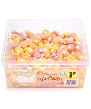 600 Count Fun Gum Tub - Mushrooms