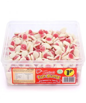 600 Count Fun Gum Tub - Strawberry Tarts
