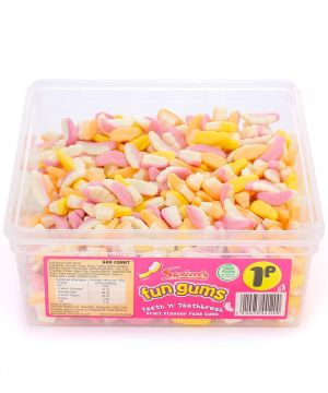 600 Count Fun Gum Tub - Teeth and Toothbrush