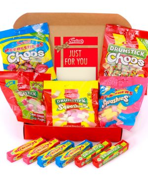 Personalised Chews Me Soft and Chewy Red Hamper