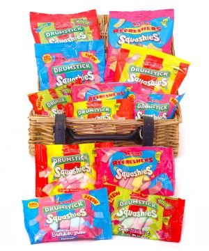 Personalised Squashies Wicker Hamper 1kg