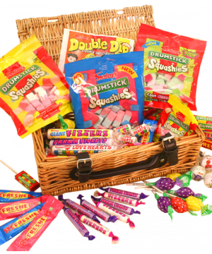 Retro Wicker Sweet Hamper 1.75kg