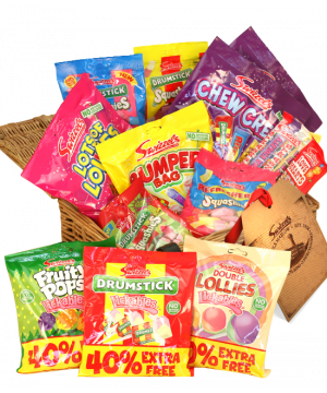 Personalised Retro sweet hamper 3kg