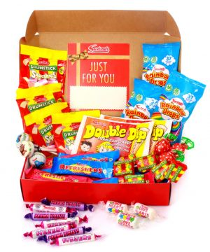 Personalised Retro Red Sweet Hamper 500g