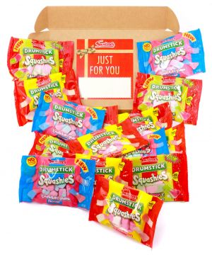 Personalised Squashies Red Sweet Hamper 750g
