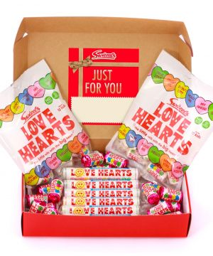 Personalised Love Hearts Red Hamper