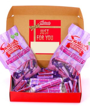 Personalised Parma Violets Red Hamper