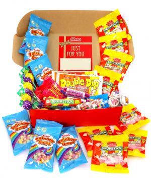 Personalised Retro Premium Red Sweet Hamper 970g