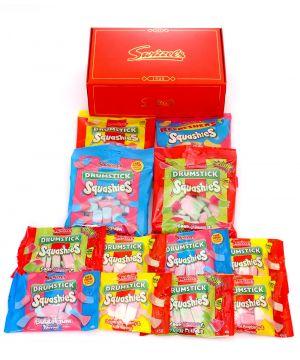 Personalised Squashies Premium Red Sweet Hamper 1kg