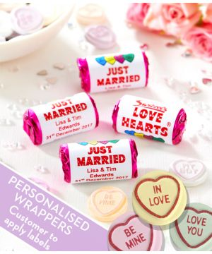 ORIGINAL Love Hearts Sweets With Personalised Wrappers
