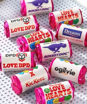 Branded Love Hearts rolls (500+)