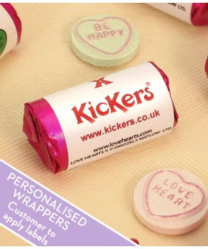 Branded Love Hearts rolls for Promotions (500 - 2,500 rolls)