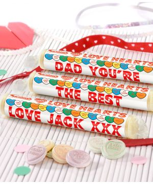 Personalised Fathers Day Love Hearts
