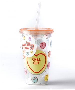 Love Hearts Straw Cup