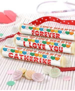 Personalised Valentines Love Hearts