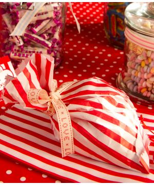 Retro Candy Stripe Bags