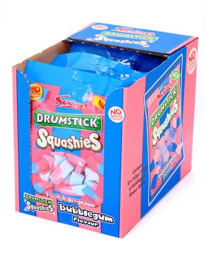 10x160g Drumstick Squashies Bubble Gum Flavour